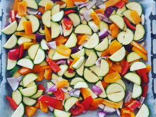 Zalmfilet met gegrilde groente