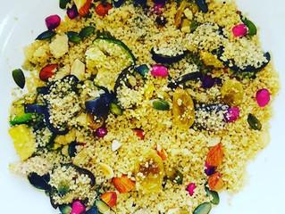 Couscoussalade met gegrilde groente & amandelen