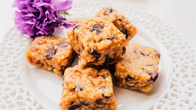 Barritas Raw Vegan de Chocolate Chip Cookie Dough