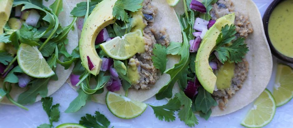 Tacos de Lentejas y Rúcula