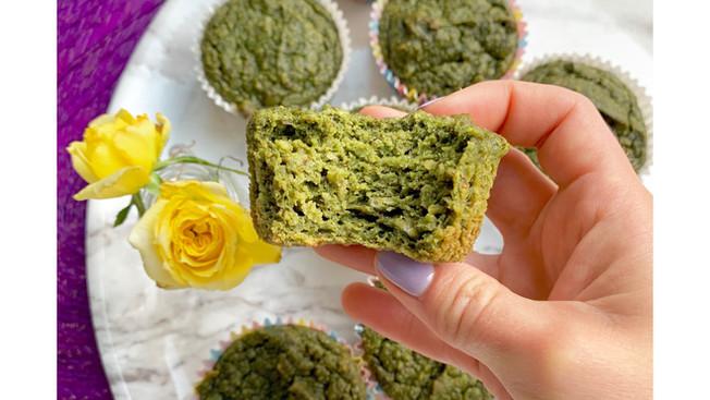 Muffins Verdes de Espinaca y Manzana
