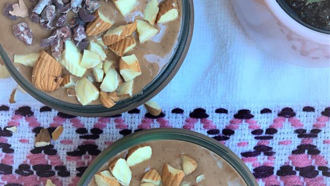 Helado Vegano de Chocolate y Almendras