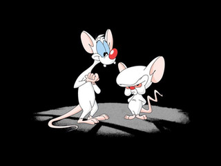 Os personagens Pinky e o Cérebro e os planos do governo para mineração