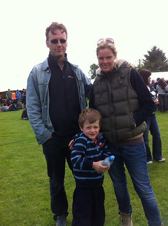Claire Plaister and family