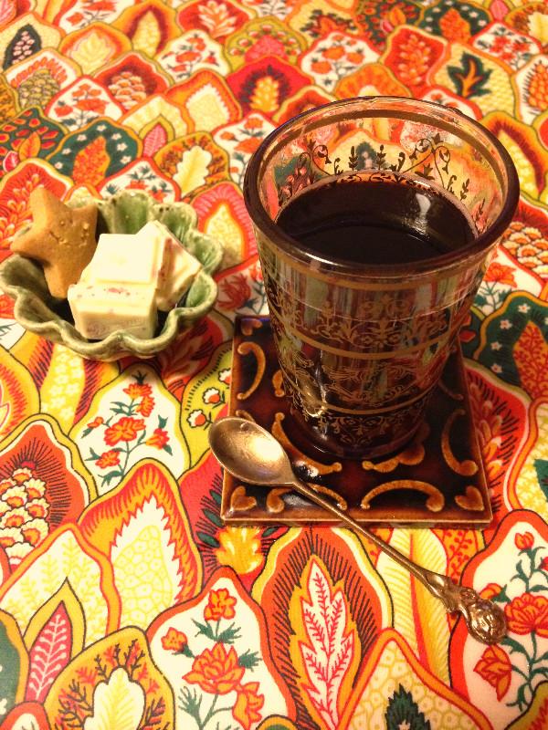 モロッコグラスでホットワイン**