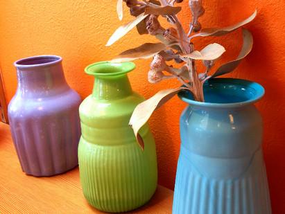 Glass flower vase**