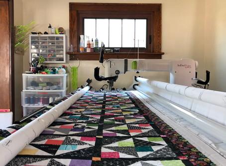 Linda C's quilt on the new longarm ...