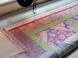 quilt binding on the longarm