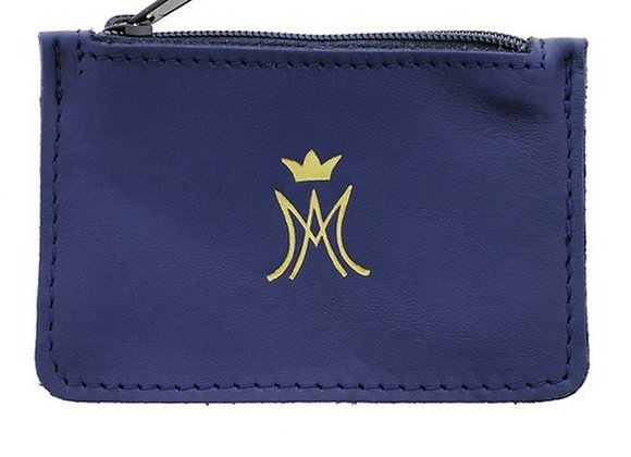 Blue Leather Ave Chaplet Case