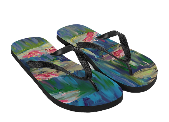 """Water Lily"" 00.6 Flip-Flops"
