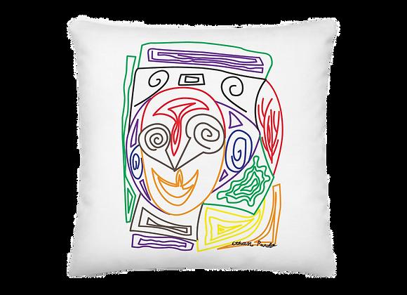 """Crazy Face"" Premium Pillow"