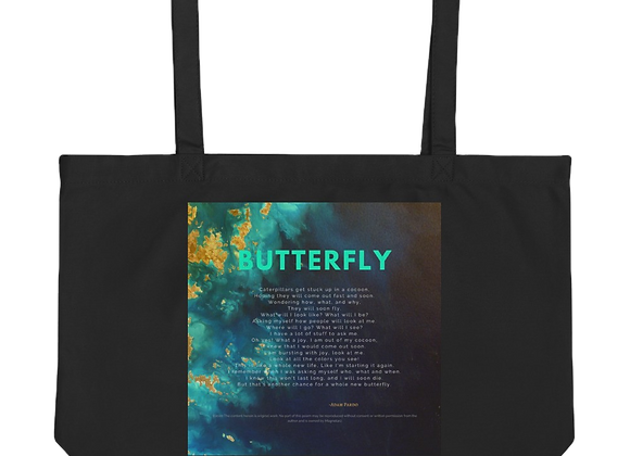 """""""Butterfly"""" Large organic Tote Bag"""