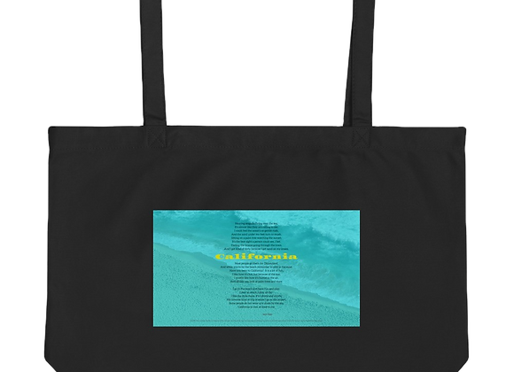 """""""California"""" Large organic Tote Bag"""