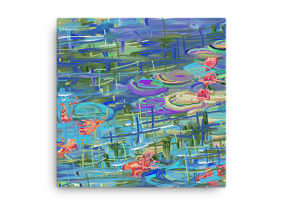"""Water Lily"" 00.9 Canvas"