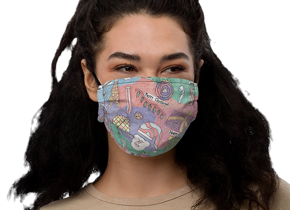 """Christmas Unwrapped"" Premium face mask"