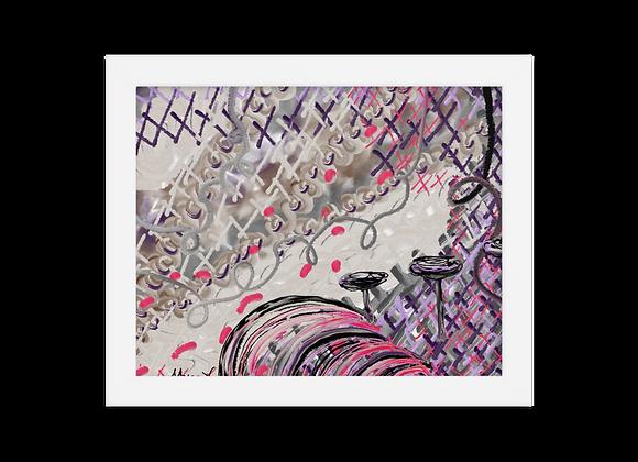 """""""Lipstick"""" 00.9 Framed Poster"""
