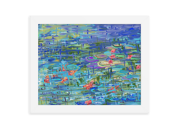 """Water Lily"" 00.9 Framed Poster"