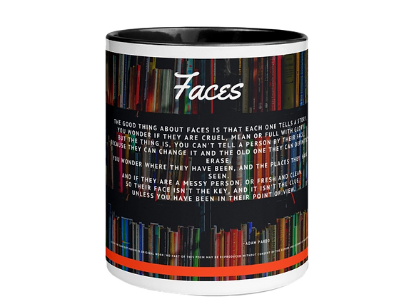 """Faces"" Mug w/Color Inside"