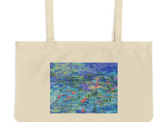 """Water Lily"" 00.9 Large organic Tote Bag"