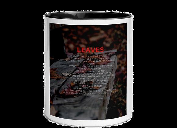 """Leaves"" Mug w/Color Inside"