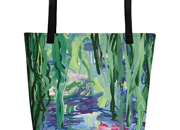 """""""Water Lily"""" 00.1 Beach Bag"""