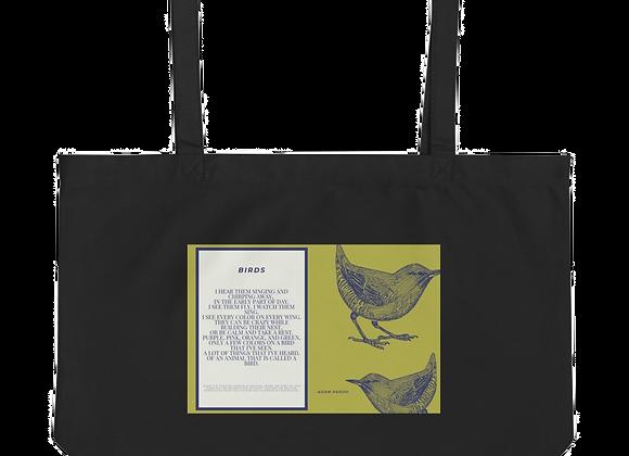 """""""Birds"""" Large organic Tote Bag"""
