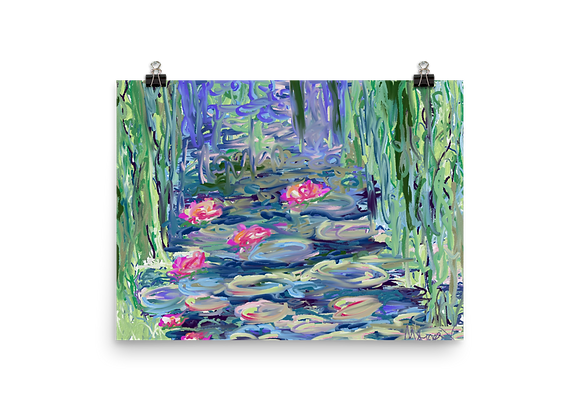 Water Lily 00.8 Poster