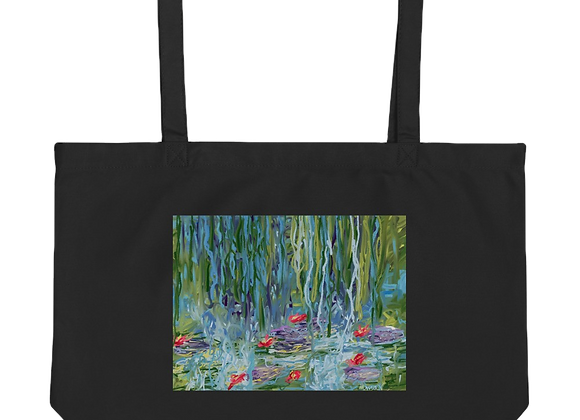 """Water Lily"" 00.2 Large organic Tote Bag"