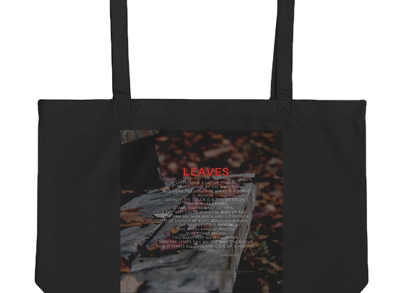 """Leaves"" Large organic Tote Bag"
