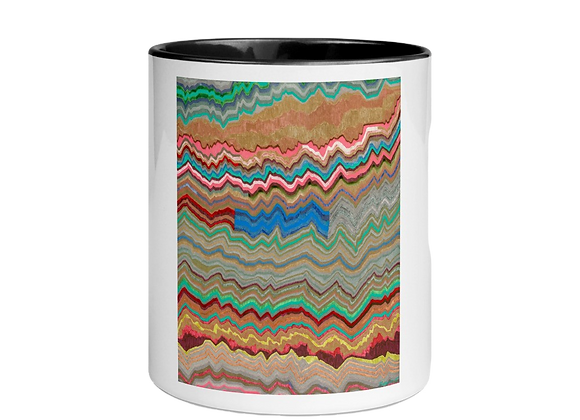 """Disperse"" Mug w/Color Inside"