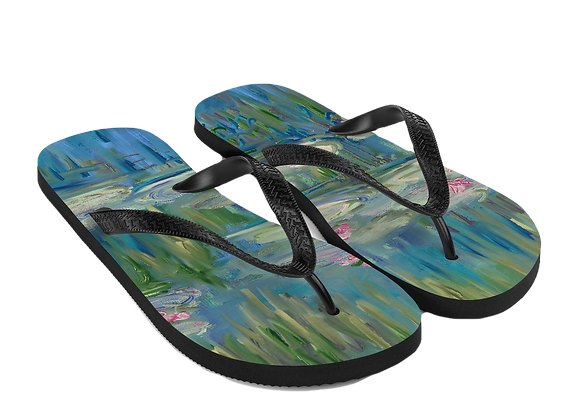 """Water Lily"" 00.4 Flip-Flops"