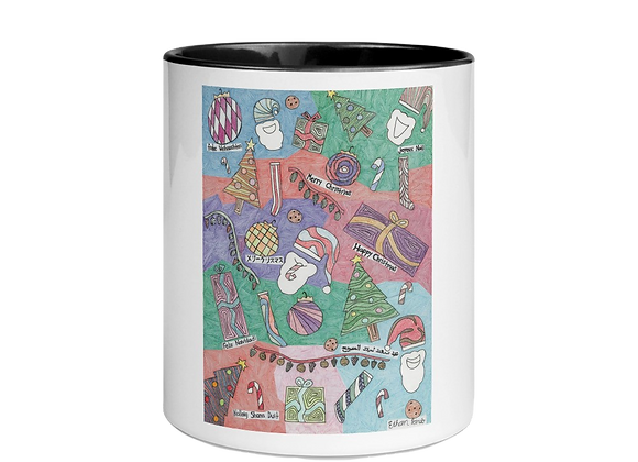"""Christmas Unwrapped"" Mug w/Color Inside"