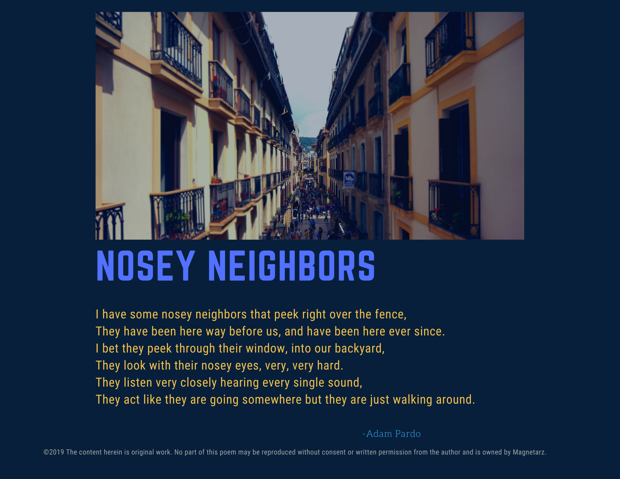 Nosey Neighbors
