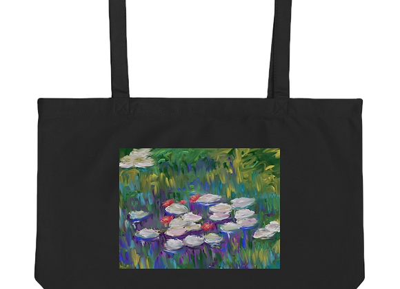 """Water Lily"" 00.3 Large organic Tote Bag"