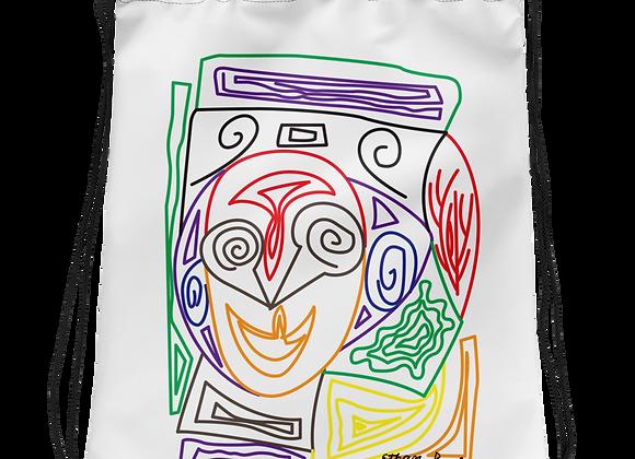 """Crazy Face"" Drawstring bag"