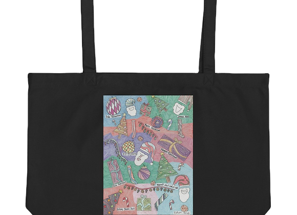 """""""Christmas Unwrapped"""" Large organic Tote Bag"""