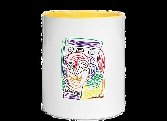 """""""Crazy Face"""" Mug with Color Inside"""