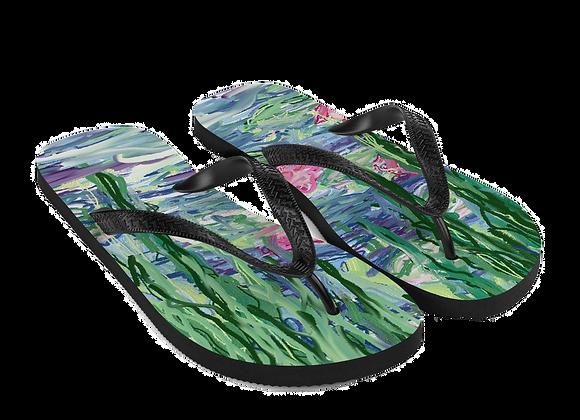 """Water Lily"" 00.1 Flip-Flops"