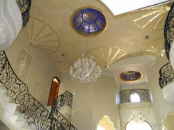 Venetian plaster and gold