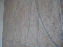 Mica paste mural detail