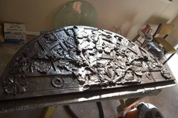 Scagliola and bronze coating