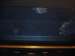 Theater ceiling and fiber optics