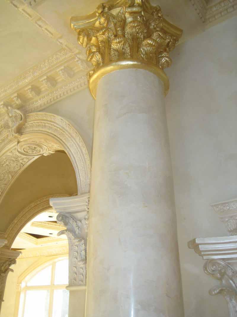 Scagliola columns