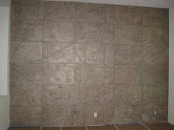 Mica plaster mural
