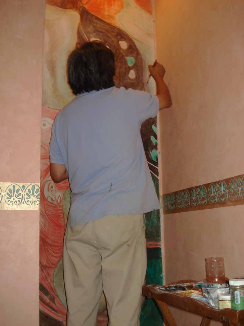 True Fresco in process