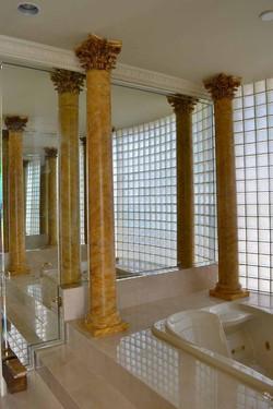 Marbleize columns
