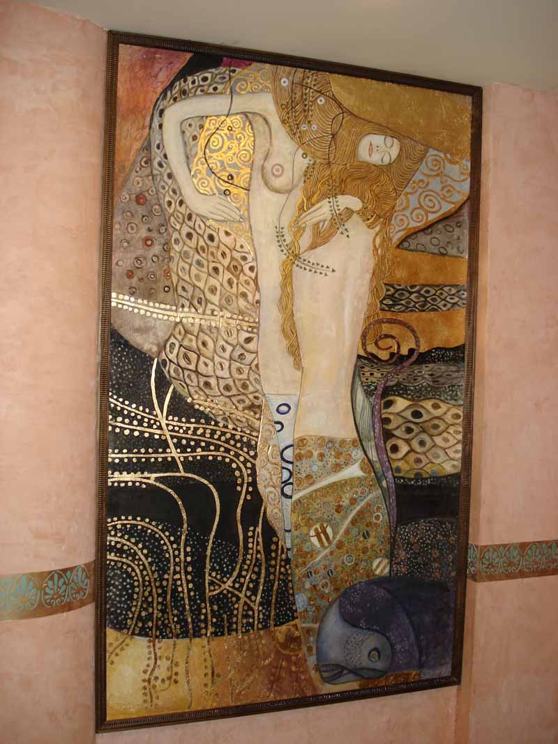 True Fresco Mural and gold