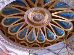 Carved plaster and foils