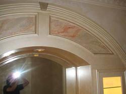 Marbleize panels on wood