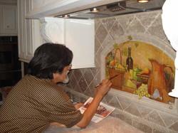 Silicate mural
